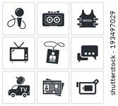media icon set | Shutterstock .eps vector #193497029