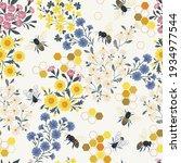 meadow wildflower honeybee...   Shutterstock .eps vector #1934977544