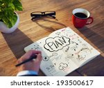 businessman's table planning... | Shutterstock . vector #193500617