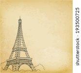 paris  vector hand drawing | Shutterstock .eps vector #193500725