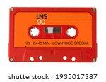 Audio cassette tape isolated...