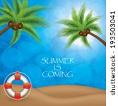 summer background.tropical... | Shutterstock .eps vector #193503041