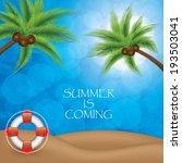 summer background.tropical... | Shutterstock .eps vector #193503041
