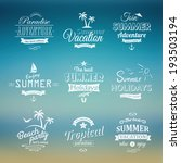 beach labels set eps10 | Shutterstock .eps vector #193503194