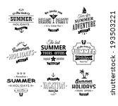 beach labels set on white eps8 | Shutterstock .eps vector #193503221