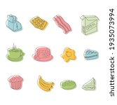 set of breakfast menu icons.... | Shutterstock .eps vector #1935073994