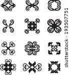 set of abstract vintage symbols | Shutterstock .eps vector #193507751