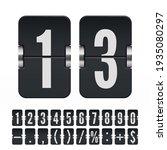 set of black flip numbers and... | Shutterstock .eps vector #1935080297