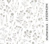 Meadow Wildflower Silhouette...
