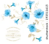 Design Of Vintage Floral Card....