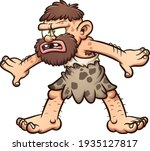 caveman with a confused face... | Shutterstock .eps vector #1935127817