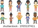 sets of vectors characters... | Shutterstock .eps vector #1935137411