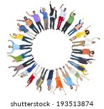 multi ethnic group of people... | Shutterstock . vector #193513874