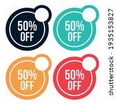50  off offerdiscount colorful... | Shutterstock .eps vector #1935153827
