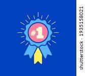 number  1 winner ribbon award... | Shutterstock .eps vector #1935158021