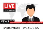 news anchor on tv breaking news ... | Shutterstock .eps vector #1935178427