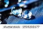 beautiful large dew or rain... | Shutterstock . vector #1935203177