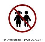no children vector icon.... | Shutterstock .eps vector #1935207134