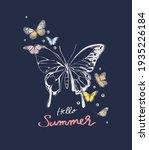 hello summer slogan with... | Shutterstock .eps vector #1935226184