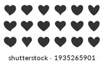 Black Silhouette Heart Flat...