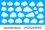 abstract white cute clouds set... | Shutterstock .eps vector #1935265904