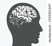 silhouette brain inside human...   Shutterstock .eps vector #1935301547