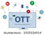 ott over the top media... | Shutterstock .eps vector #1935326914