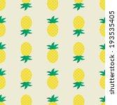 seamless pineapple pattern ... | Shutterstock .eps vector #193535405