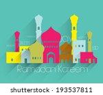 vector flat muslim mosque... | Shutterstock .eps vector #193537811