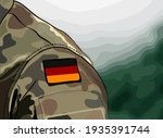 flag of germany on soldier arm....   Shutterstock .eps vector #1935391744