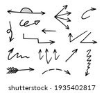 vector set of hand drawn arrows ... | Shutterstock .eps vector #1935402817