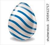white realistic easter egg... | Shutterstock .eps vector #1935412717