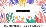 trendy plants frame. spring... | Shutterstock .eps vector #1935426097