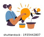cultivating and growing ideas... | Shutterstock .eps vector #1935442807