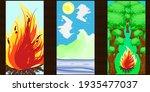 set of vector abstract... | Shutterstock .eps vector #1935477037