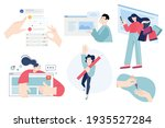 set of flat design people... | Shutterstock .eps vector #1935527284