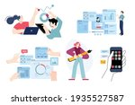 set of flat design people... | Shutterstock .eps vector #1935527587