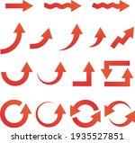 assorted red arrow icons vector ... | Shutterstock .eps vector #1935527851