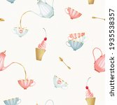 Seamless Pattern With Teapot ...