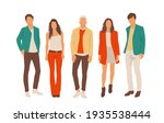 set of young men and women ... | Shutterstock .eps vector #1935538444
