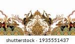 Digital Textile Design Motif...