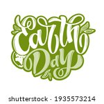 hand sketched text 'happy earth ...   Shutterstock .eps vector #1935573214