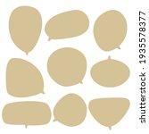 set speech bubble on a white... | Shutterstock .eps vector #1935578377