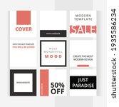 modern red style. set of... | Shutterstock .eps vector #1935586234