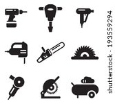 power tools icons | Shutterstock .eps vector #193559294