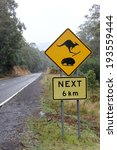 kangaroo and wombat road sign... | Shutterstock . vector #193559444