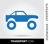 suv icon in trendy style...