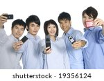 5 teamwork taking picture | Shutterstock . vector #19356124