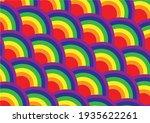 rainbow colorful half circle...   Shutterstock .eps vector #1935622261