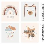 kids scandinavian poster set....   Shutterstock .eps vector #1935632011